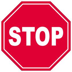 Знак 2.5 «Движение без остановки запрещено»