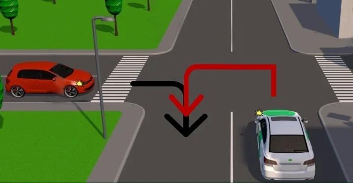 Как разворачиваться на перекрестке