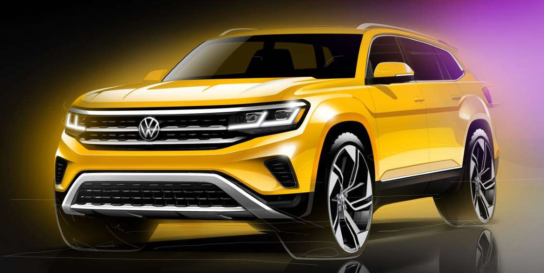 В 2021 VW Atlas примет стиль Atlas Cross Sport