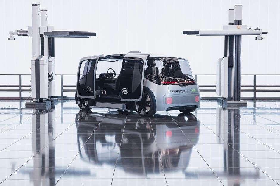 Концепт Jaguar-Land Rover имеет сумасшедшие двери, похожие на автобусы