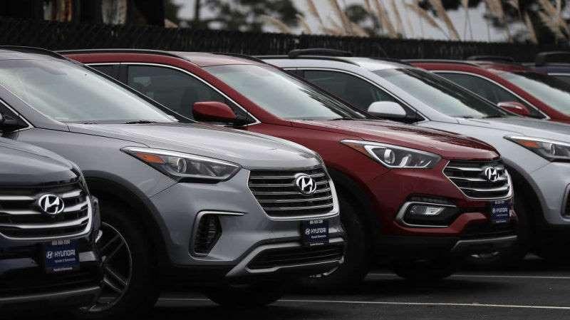 Hyundai не прекратил делать автомобили, и теперь порты США заполнены ими