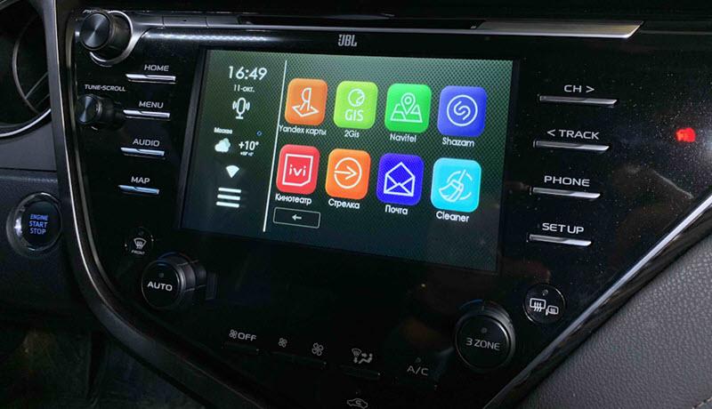 Android Toyota Camry V70: советы по выбору